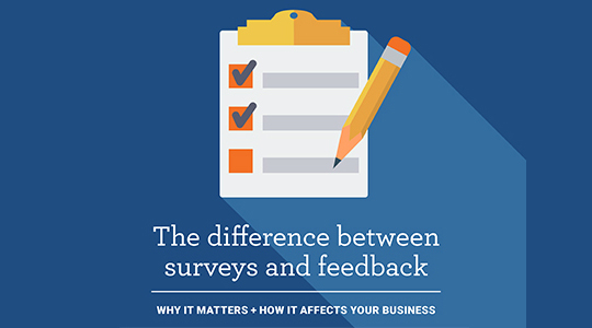 The difference between surveys and feedback